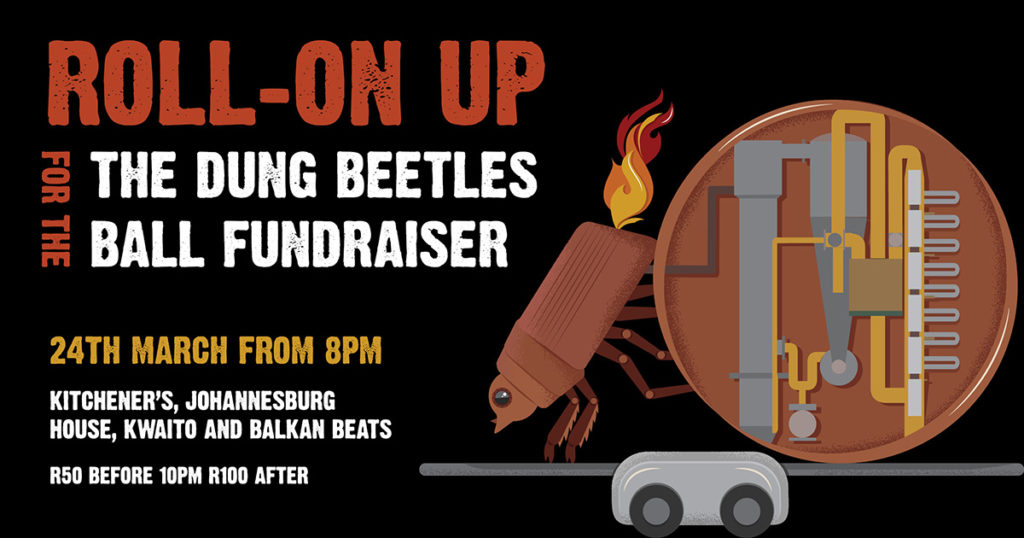 A Dung Beetle Project event's flyer.