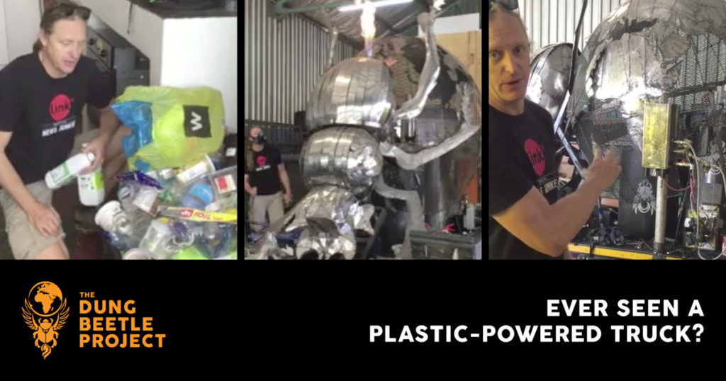 Jeffrey Barbee converts his plastic garbage into fuel for his