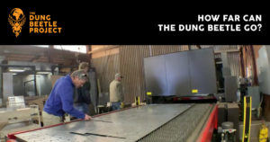 People work on a new Dung Beetle stage.