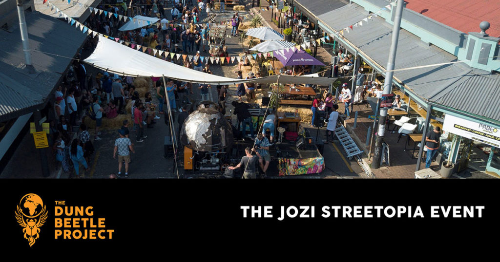 Dung Beetle stage on full display at the Johannesburg Street Topia event.